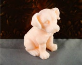 Dog Soap: Happy Pup Soap for Human Use, Adorable Soap Shaped Like A Sitting Puppy Dog! You Choose Color & Scent