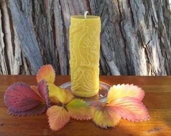 Rustic Fern Pillar 100% pure beeswax