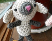 Lamb Amigurumi Toy - MADE to ORDER- Olivia the Little Lamb, Easter, Sheep