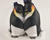 Penguin Love Custom Wedding Cake Topper
