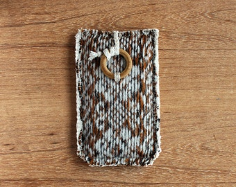 Wool iPhone case - iPhone 4 4S 5 5S 5C - Galaxy S5 mini - Tribal - Brown