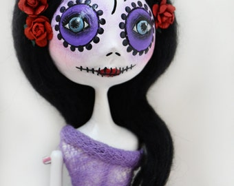 Custom Art Doll - Day of the Dead Doll - Dia de los muertos - Art Doll - Mexican Folkart