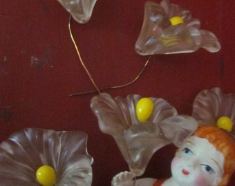 Large Vintage Lucite  Cally Lily Flower