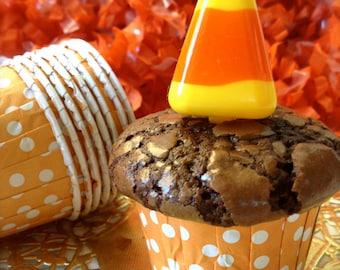 Candy Corn Cupcake Picks-2 Dozen