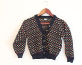 Vintage Dark Blue Sweater Cardigan for Kids - CLEARANCE SALE!