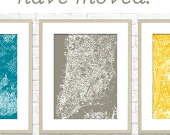 CHOOSE YOUR CITY Custom Cityscape / Graphic City Map Art Digital Print / Choose your color / 8x10 / Giclee Wall Art Poster