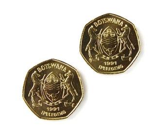 Botswana Coin  Cufflinks