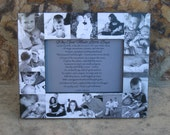 "Baby's First Year Picture Frame, Personalized Baby Frame, Unique Baby Photo Collage Frame, Unique Mother's Day Gift,  5"" x 7"""