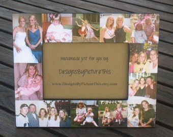 """Mother of the Bride Collage Picture Frame, Custom Maid of Honor Frame, Unique Sister, Birthday Gift, Personalized Bridesmaid Frame, 5"""" x 7"""""""