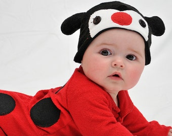 ON SALE: Size 3-6m Ladybird / Ladybug / Lady Beetle Baby Halloween Costume with Hat - Lil' Creatures
