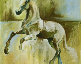 Balance - Original Oil Horse Painting