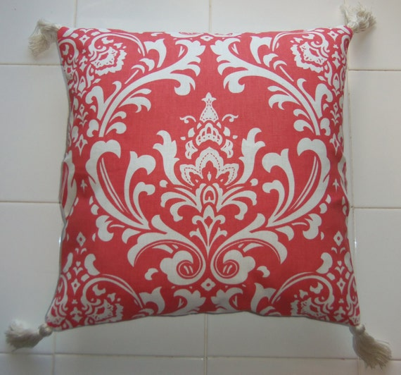 How To Make Zippered Throw Pillow Covers : 16 x 16 Throw Pillow Cover Reversible Zippered by CreamyNougat