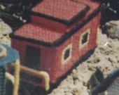 Train Caboose Plastic Canvas Needlepoint Kit