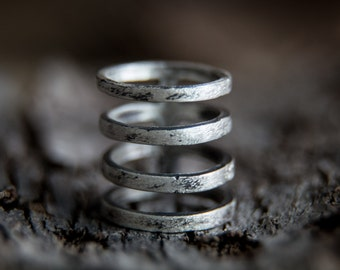 Cage Ring -Sterling Silver Wide Band Index Finger Ring-Statement Jewellery