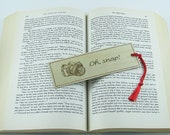 Camera Wooden Bookmark - Hand Pyrography - Photographer quote