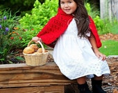 Little Red Riding Hood - Mrs. Santa Clause Hooded Christmas Cape - Halloween Costume Photo Prop - Girl Baby Shower Gift - MADE TO ORDER