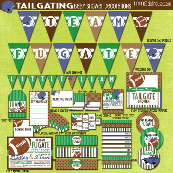 football baby shower decorations printable tailgate party decorations