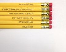 Pitch perfect pencil set  6 six pack pencils in sunshine yellow. Back to school supplies