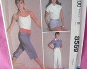 Easy McCalls 8559 Brook Shields Collection Pants and Shorts Size Medium Vintage 1983