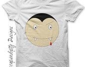 Halloween Iron on Transfer - Iron on Vampire Shirt / Halloween Tshirt / Toddler Vampire Clothes / Kids Boys Clothing Tops / Digital IT47-P
