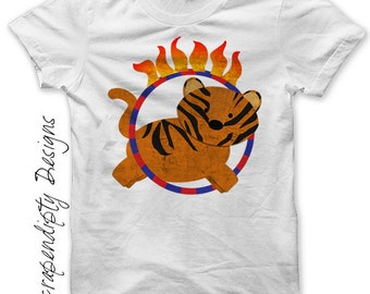Tiger Iron on Transfer - Iron on 1st Birthday Circus Shirt PDF / Circus Birthday Outfit / Kid Tiger Shirt / Baby Shower Gift Digital IT389-R