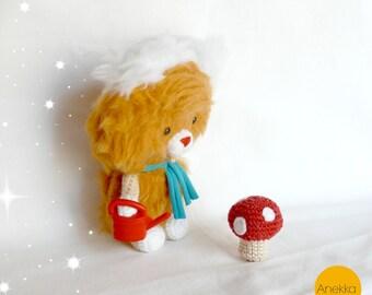 Teddy bear  ,softie toi, plush toy, amigurumi crochet, stuffed doll, Gift