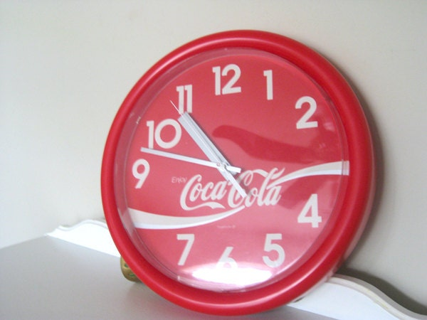 Vintage Clock Coca Cola Coke 14 Ridan Displays