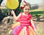 Rainbow Tutu, Candyland tutu, Circus Birthday, Girls' Clothing, Halloween Costume, Birthday Tutu, Clown Tutu, tutu Costume, halloween tutu