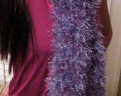 Purple Scarf is Soft, Fluffy, Long, Sparkly, Blingy and Wavy