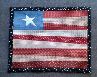 Patriotic Quilted Flag Ready to Hang or Display