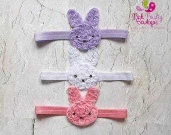 Baby Headband. Easter Bunny Headband. Bunny Baby headbands. Easter Infant Headbands. Baby hair accessories. Bunny Rabbit Hairbow. Baby Bows.