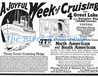 North and South American Cruises - 1920s Vintage Advertising - Digital Download