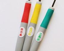 japanese stamp carving knife set. stamp carving tools. diy rubber stamps. for making hand carved rubber stamps. set of 3 blades