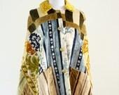 Vintage 1960s Cloak / Tapestry Cloak / Hippie Cloak