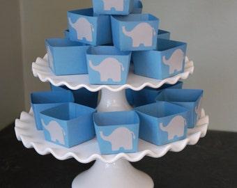Elephant Candy Cups, Elephant Baby Shower, Elephant Decorations, Nut Cups, Elephant Favors, Party, 12 Pcs, Blue