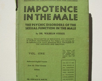 vintage Impotence in the male volume one Book date 1927 but may be later edition