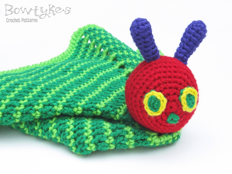 Crochet Pattern Baby Lovey : Caterpillar Lovey CROCHET PATTERN instant download blankey