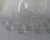 Princess House Crystal Punch Bowl with 12 Glasses and Ladle #069