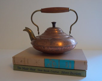 Copper Teapot with Wooden Handle - Made in Holland