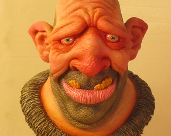 Andre the Hill Giant OOAK Small-Scale Polymer Clay Bust