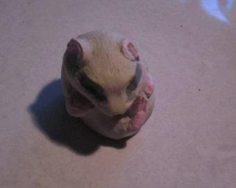 netsuke, Hamster, sleeping baby......copy of an antique...so not-netsuke...hahaha  Tash