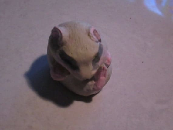 netsuke, Hamster, sleeping baby......copy of an antique...so not-netsuke...hahaha  Tash
