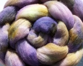 Hand Dyed Falkland Combed Top, 4 oz, spinning fiber, roving
