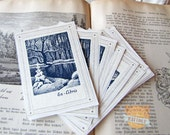 Bookplate Stickers - Winter Snow Bookplates - Ex Libris - Book Labels - Forrest Bookplates - Gifts under 10 - Gifts for book lovers