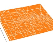 Champaign City Map Art Print / University of Illinois Urbana-Champaign Grad Gift Wall Art Poster / 8x10 Digital Print / Personalized colors