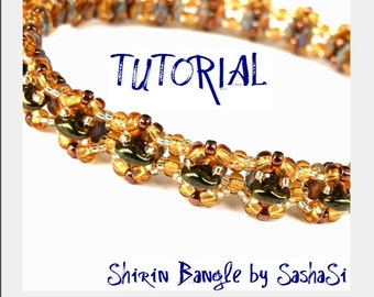 Shirin Bangle Beading Tutorial DOWNLOAD - Step-by-Step Beading instructions Pattern - PDF File