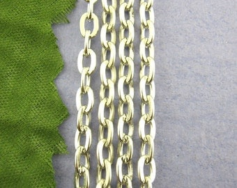 16' Silver Chain - Antique Cable Chain - 3x5mm - Ships IMMEDIATELY from California - CH237