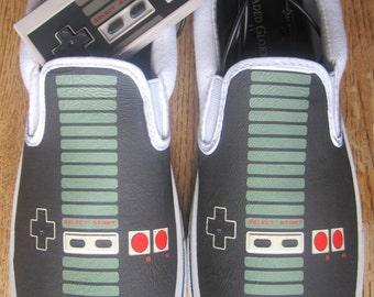 Custom Vans Brand NES Controller Canvas Shoes