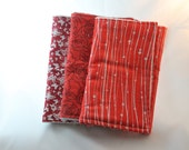 Orange and Red Baby Burp Cloths | Burp Cloth Set | Terry Burp Cloths | Baby Gift