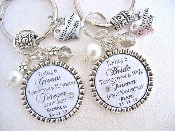 Mother Of The Groom Gift: MOTHER Of Bride Gift WEDDNG KEEPSAKE Mother Of Groom White